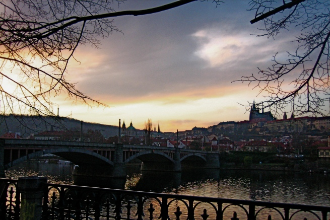 Prague Castle across the river